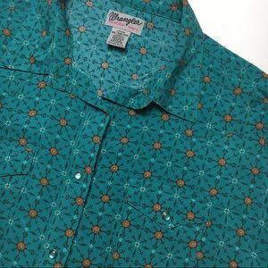 Wrangler Rancher Western Button/Snap Shirt, sz xxl